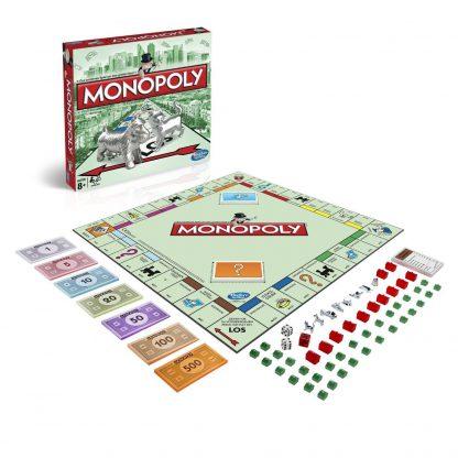 Afbeelding van het speelbord van het Monopoly Classic bordspel