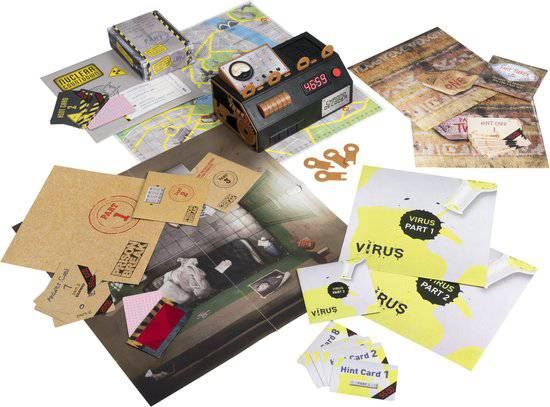 Afbeelding van de speelattributen van het bordspel Escape Room The Game