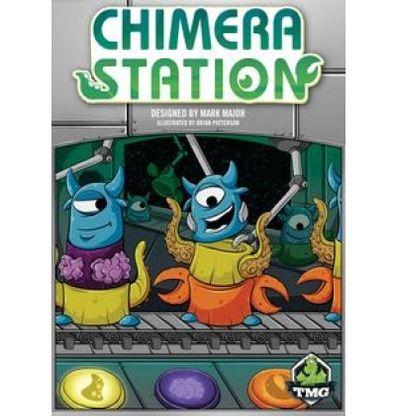 Afbeelding van de doos van het Chimera Station bordspel