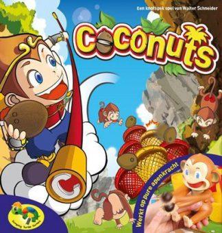 Afbeelding van de doos van het Crazy Coconuts bordspel