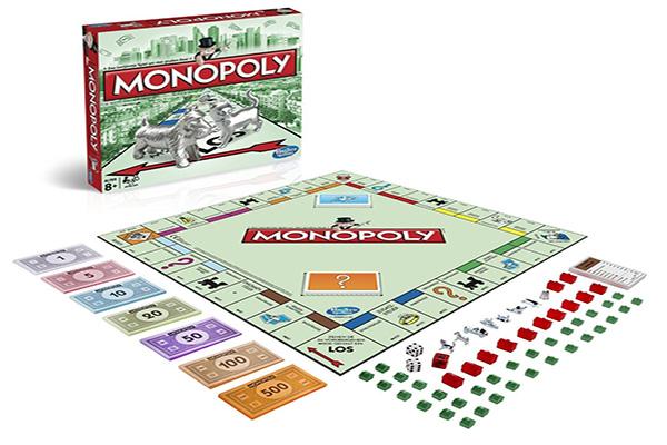 Afbeelding van het speelbord van Monopoly Classic bordspel