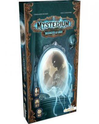 Afbeelding van de doos van het bordspel Mysterium Secrets & Lies uitbreiding