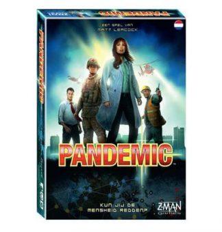 Afbeelding van de doos van de basiseditie van het Pandemic bordspel