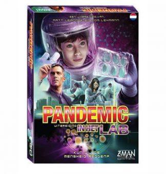 Afbeelding van de doos van het Pandemic In het Lab bordspel