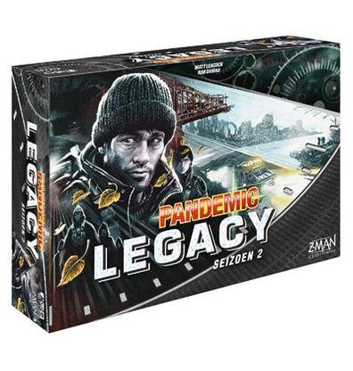 Afbeelding van de doos van de Nederlandse versie van het Legacy Seizoen 2 Black bordspel