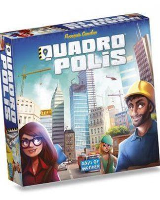 Afbeelding van de doos van het Quadropolis bordspel