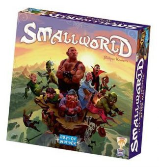 Afbeelding van de doos van de Engelse basiseditie van het Small World bordspel