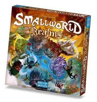 Afbeelding van de doos van de Engelse versie van het bordspel Small World Realms uitbreiding