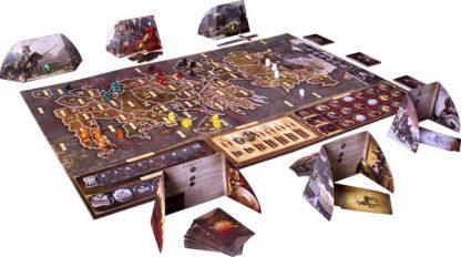 Afbeelding van het speelbord van het Game of Thrones bordspel