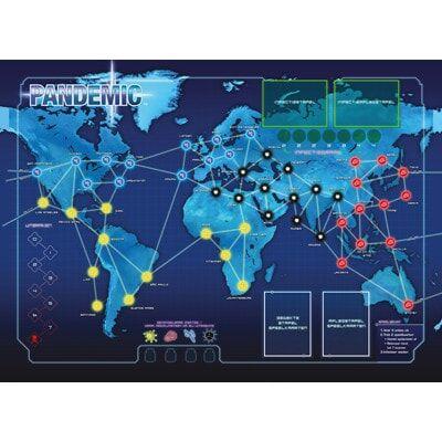 Foto van het Pandemic Speelbord