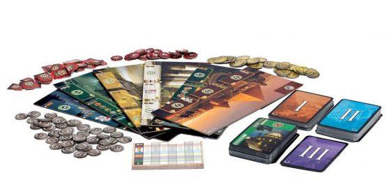Afbeelding van Speelbord en toebehoren van het 7 Wonders basiseditie bordspel