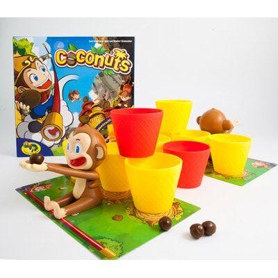 Afbeelding van het Speelbord en toebehoren van het bordspel Crazy Coconuts