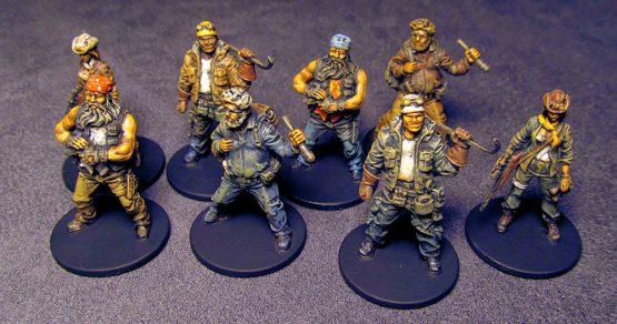 Afbeelding van de pionnen van spelers van het Zombicide Angry Neighbors bordspel
