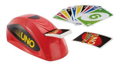 Afbeelding van de Uno Extreme machine en speelkaarten