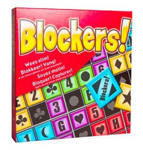 Productfoto van de doos van de Nederlandse versie van het bordspel Blockers