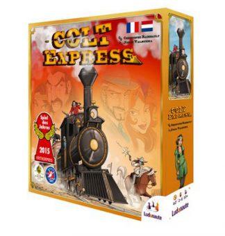 Productfoto van de Nederlandse versie van het bordspel Colt Express