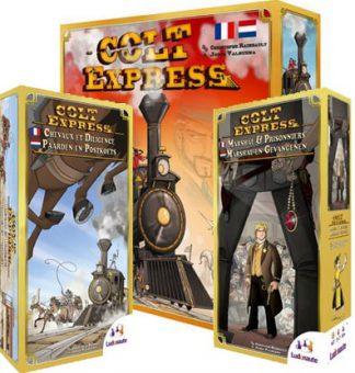 Productfoto van het Colt Express 3 in 1 bordspellen voordeelbundel