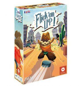 Productfoto van de Nederlandse versie van het bordspel Flick em Up Plastic