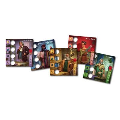 Rollen kaarten van de Nederlandse versie van het bordspel Legendarische Uitvinders