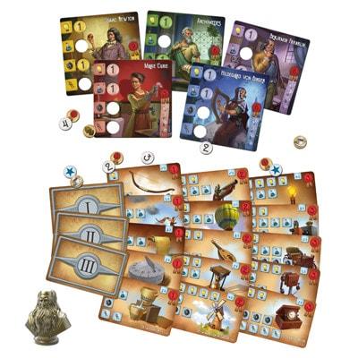 Afbeelding van de speelkaarten van het bordspel Legendarische Uitvinders