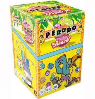 Productfoto van de Nederlandse versie van het dobbelspel Perudo Beach