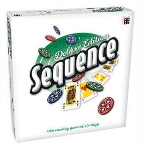 Productfoto van de Nederlandse versie van het bordspel Sequence Deluxe