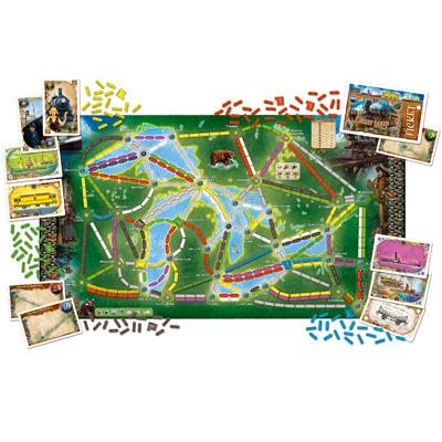 Afbeelding 2 van het speelbord van het bordspel Ticket to Ride uitbreiding Rails and Sails