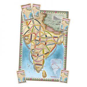 Speelbord 2 van de Nederlandse versie van het bordspel Ticket to Ride India & Switzerland