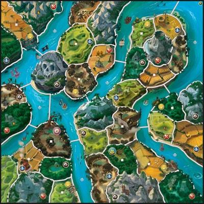 Afbeelding 2 van het speelbord van de uitbreiding van het bordspel Smallworld River World