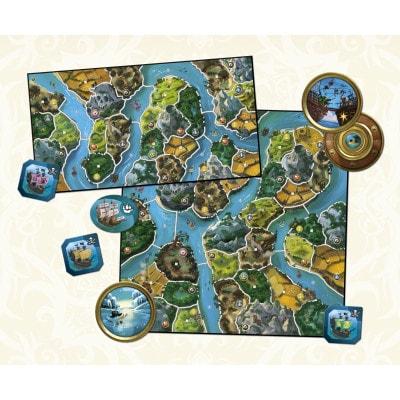 Afbeelding van het speelbord van de uitbreiding van het bordspel Smallworld River World