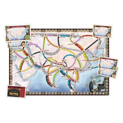 Speelbord 2 van de Nederlandse versie van het bordspel Ticket to Ride Asia