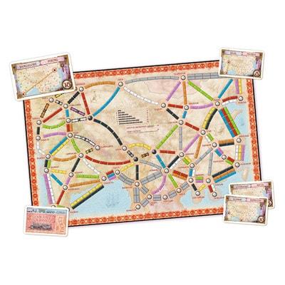 Speelbord van de Nederlandse versie van het bordspel Ticket to Ride Asia