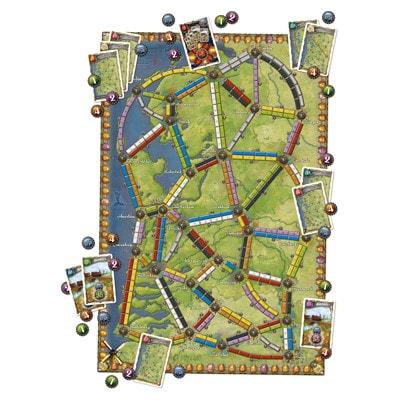 Afbeelding van het speelbord van het bordspel Ticket to Ride Nederlanda