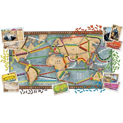 Afbeelding van het speelbord van het bordspel Ticket to Ride uitbreiding Rails and Sails