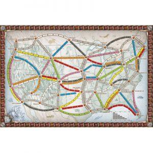 Spoorkaart van de Nederlandse versie van het bordspel Ticket to Ride USA