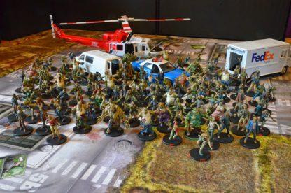 Afbeelding van een moment gedurende het bordspel Zombicide Toxic City Mall