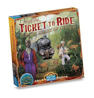 Productfoto van de Nederlandse versie van het bordspel Ticket to Ride Africa