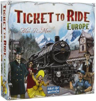 Productfoto van de Europe uitbreiding van het bordspel Ticket to Ride