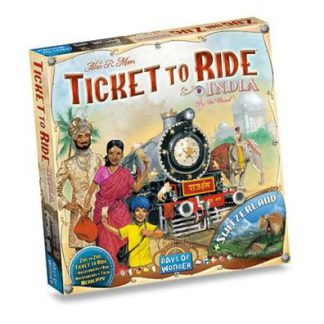 Productfoto van de Nederlandse versie van het bordspel Ticket to Ride India & Switzerland