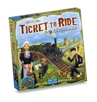 Productfoto van de Nederland uitbreiding van het bordspel Ticket to Ride