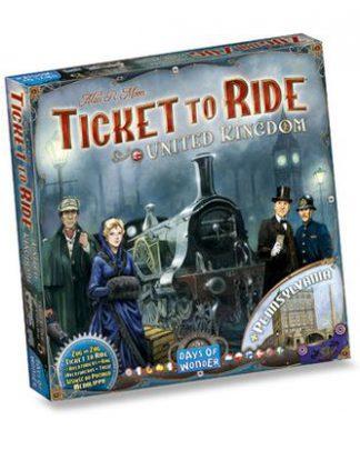 Productfoto van de Nederlandse versie van het bordspel Ticket to Ride United Kingdom + Pennsylvania