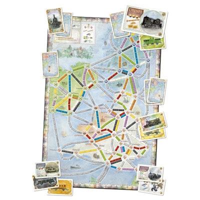Afbeelding van het speelbord van het Ticket to Ride - UK bordspel