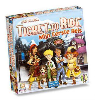 Productfoto van de Nederlandse versie van het bordspel voor kinderen Ticket to Ride mijn eerste reis