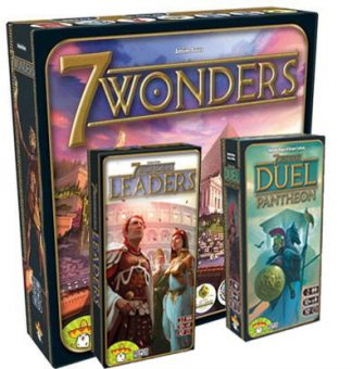 Productfoto van de 7 Wonders 3 in 1 bordspel combinatie bundel