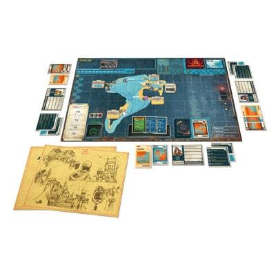 Afbeelding van het speelbord van het bordspel Pandemic Legacy Seizoen 2 Yellow