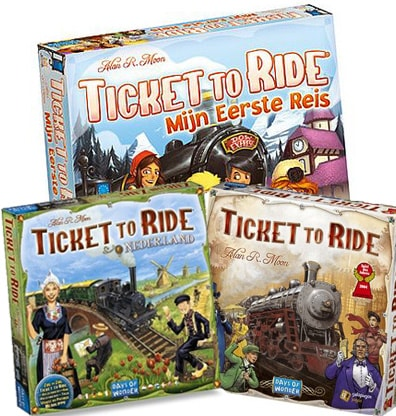 Productfoto van het bordspel bundel Ticket to Ride Mijn Eerste reis + Nederland + USA