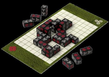 Afbeelding van een spelimpressie van het bordspel Carnac