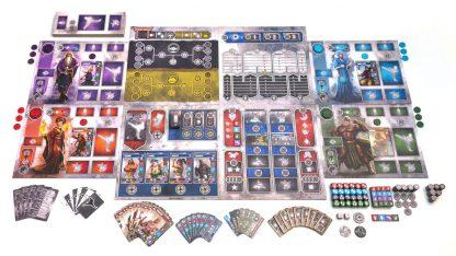 Afbeelding van een spelimpressie van het bordspel Dojo Kun