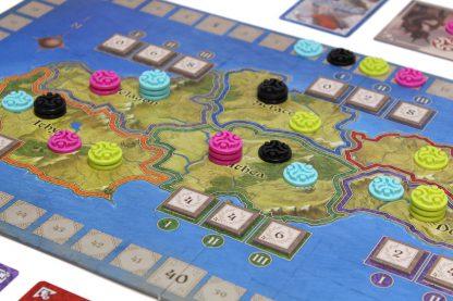 Afbeelding van een spelimpressie van het bordspel Ethnos