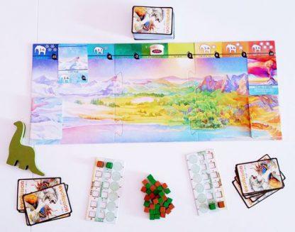 Afbeelding van het speelbord van het bordspel Evolution Climate